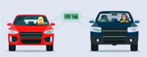 rfid tag on vehicle